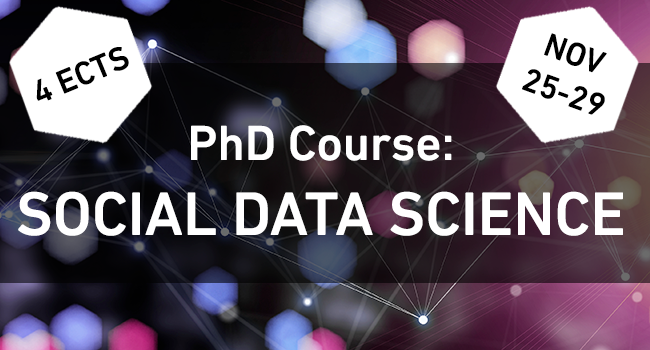 PhD Course: An applied introduction to machine learning for social science and humanities scholars